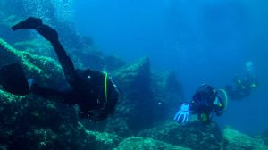 Scuba Diving at the bottom of Lemnos